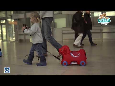 Detské odrážadlo kufor na kolieskach Pes Bobby BIG