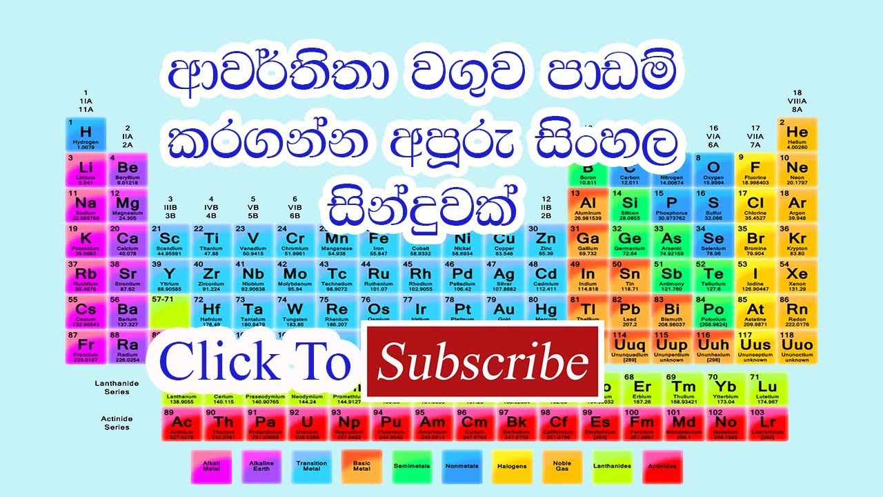 Periodic table sinhala song to know the periodic table sinhala song to know the secret click the link on the description urtaz Images