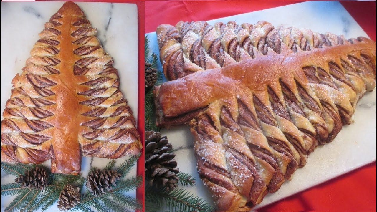 nutella christmas tree bread recipe nutella juletrs brd youtube