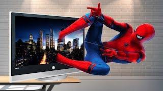 Человек-паук появился из телевизора | Мультик для детей