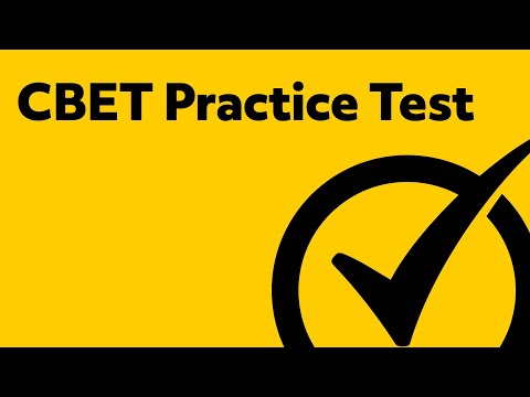 Best Free CBET Practice Test! (updated 2018)
