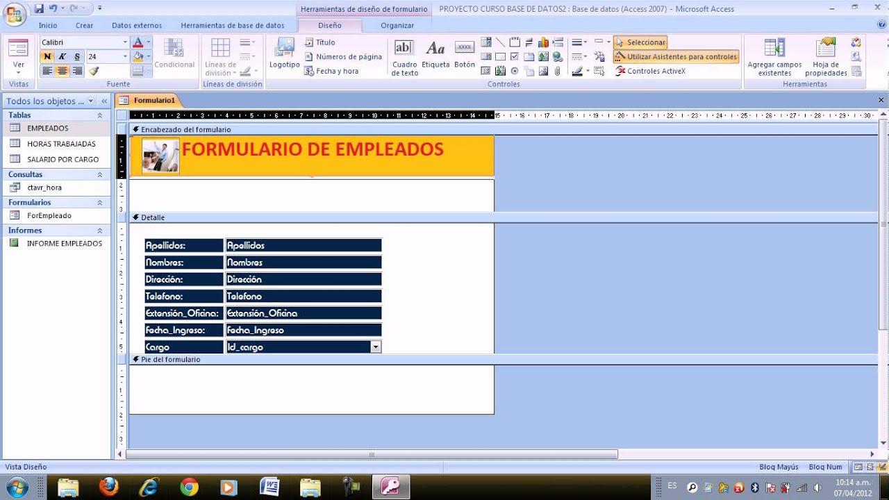 Formularios con botones y cuadros combinados informes - Cuadros con botones ...
