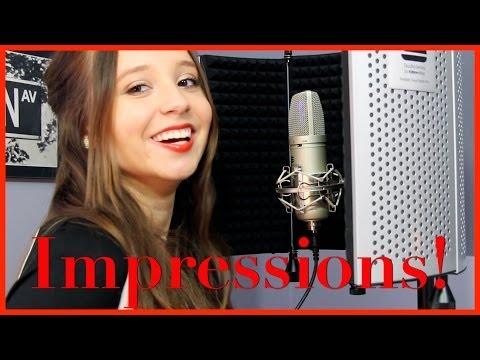 Impressions of Singers! Britney Spears Shakira Miley Cyrus | Ali Brustofski Singing Impersonations