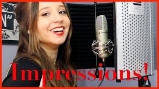 Impressions of Singers! Britney Spears Shakira Miley Cyrus more | Ali Brustofski singing impressions
