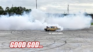 WAR BIRD'S First American Burnout!!! 1,700 Australian Eagles DESTROY The Freedom Factory Skid Pad!!!