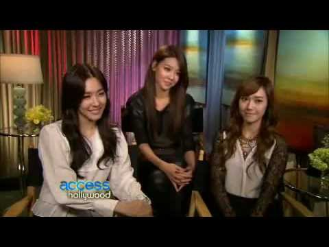 111117 Tiffany Jessica Sooyoung SNSD - Interview @  Access Hollywood