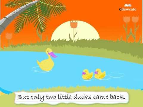 Học tiếng Anh lớp 3 qua bài hát Five little ducks