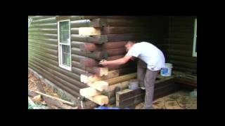 Log Home Rotten Corner Repair