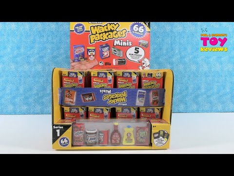 Official Wacky Packages Minis Full Case Blind Bag Opening Review | PSToyReviews