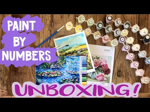 Paint By Numbers Unboxing