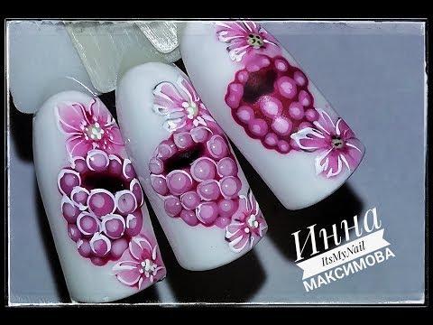 Малиновый дизайн ногтей фото