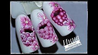 🌺 МАЛИНА на ногтях 🌺 ОЧЕНЬ простой ДИЗАЙН 🌺 Дизайн ногтей гель лаком 🌺