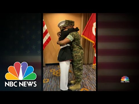Father Honors Son With Emotional Military Salute   NBC Nightly News