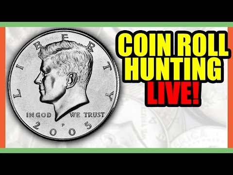 🔴 COIN ROLL HUNTING HALF DOLLARS!! SEARCHING FOR SILVER HALF DOLLAR COINS WORTH MONEY!!