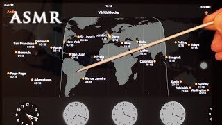 ASMR Time Zones Map Tapping | Deep Voice Soft Spoken