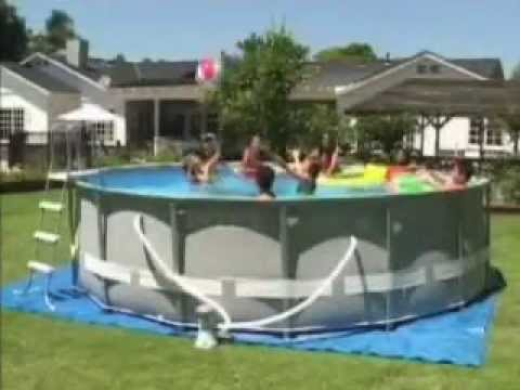 Piscina intex ultra frame youtube for Alberca intex