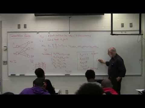 Transportation Problem Class Lecture Part 1