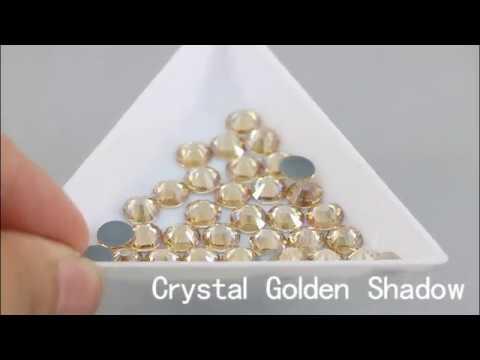 Hotfix rhinestones Crystal Golden Shadow
