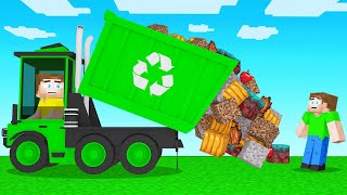 CLEANING UP GARBAGE In Minecraft!