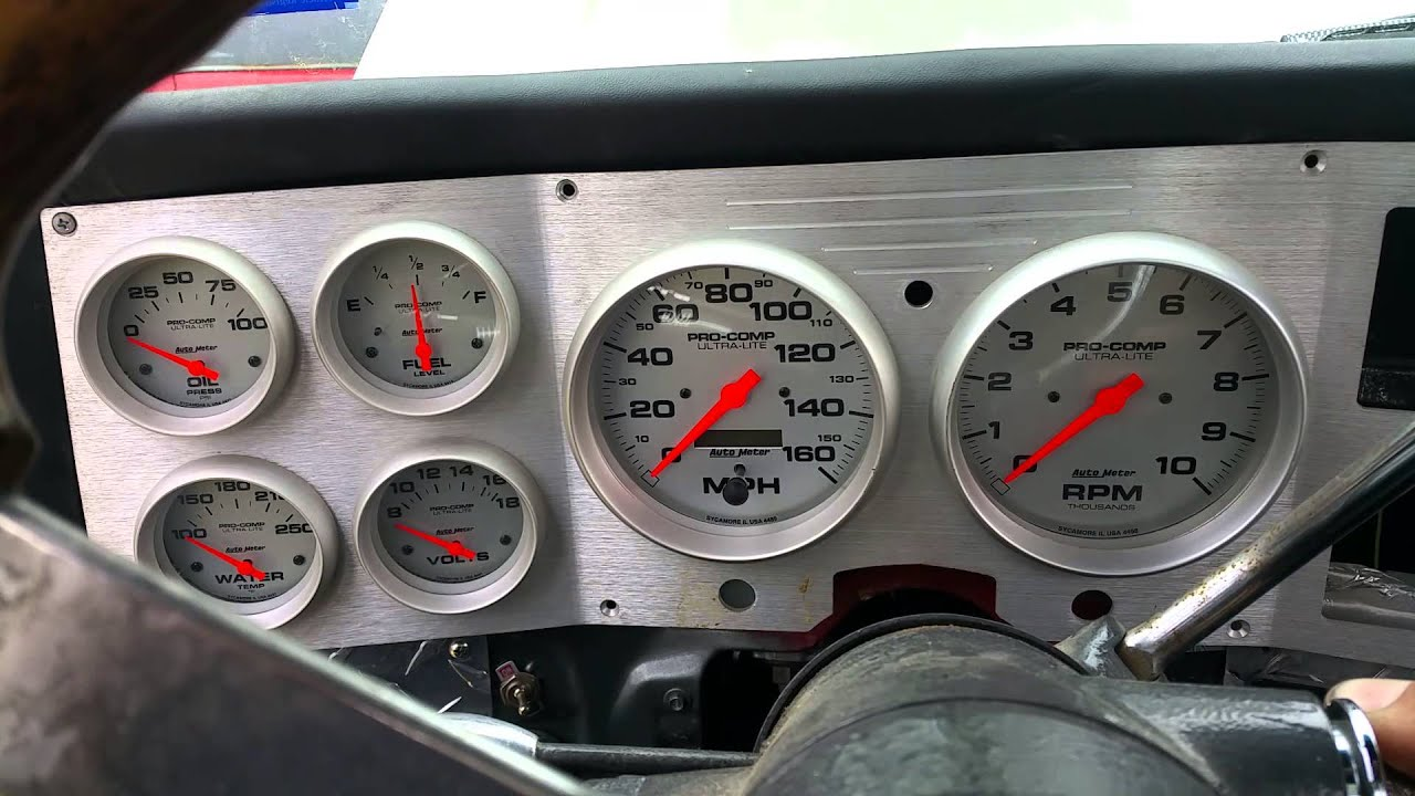 Ls1 5 3 C10 With Autometer Gauges Test