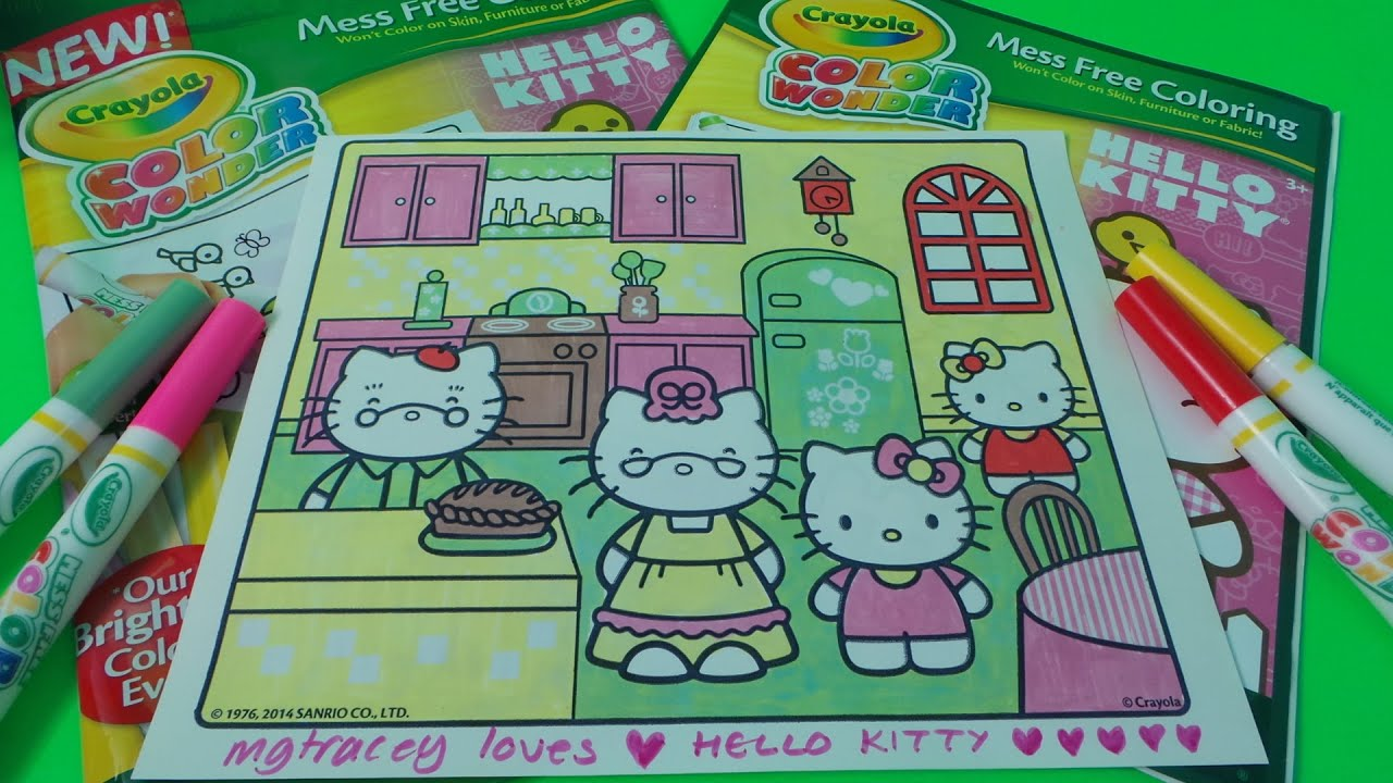 fun with crayola color wonder from hello kitty magic colouring book youtube - Color Wonder Coloring Books