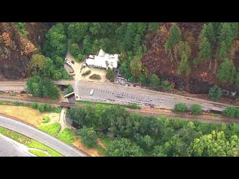 Sky 8 video: Multnomah Falls after Eagle Creek Fire