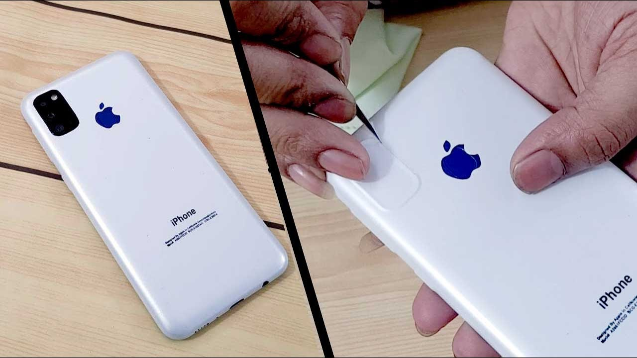 Samsung Galaxy M21 Converted in iPhone 11 pro   Apple Lamination trick