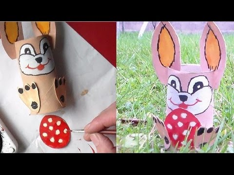 Lapin de p ques bricolage et d co diy youtube - Deco de table de paques ...