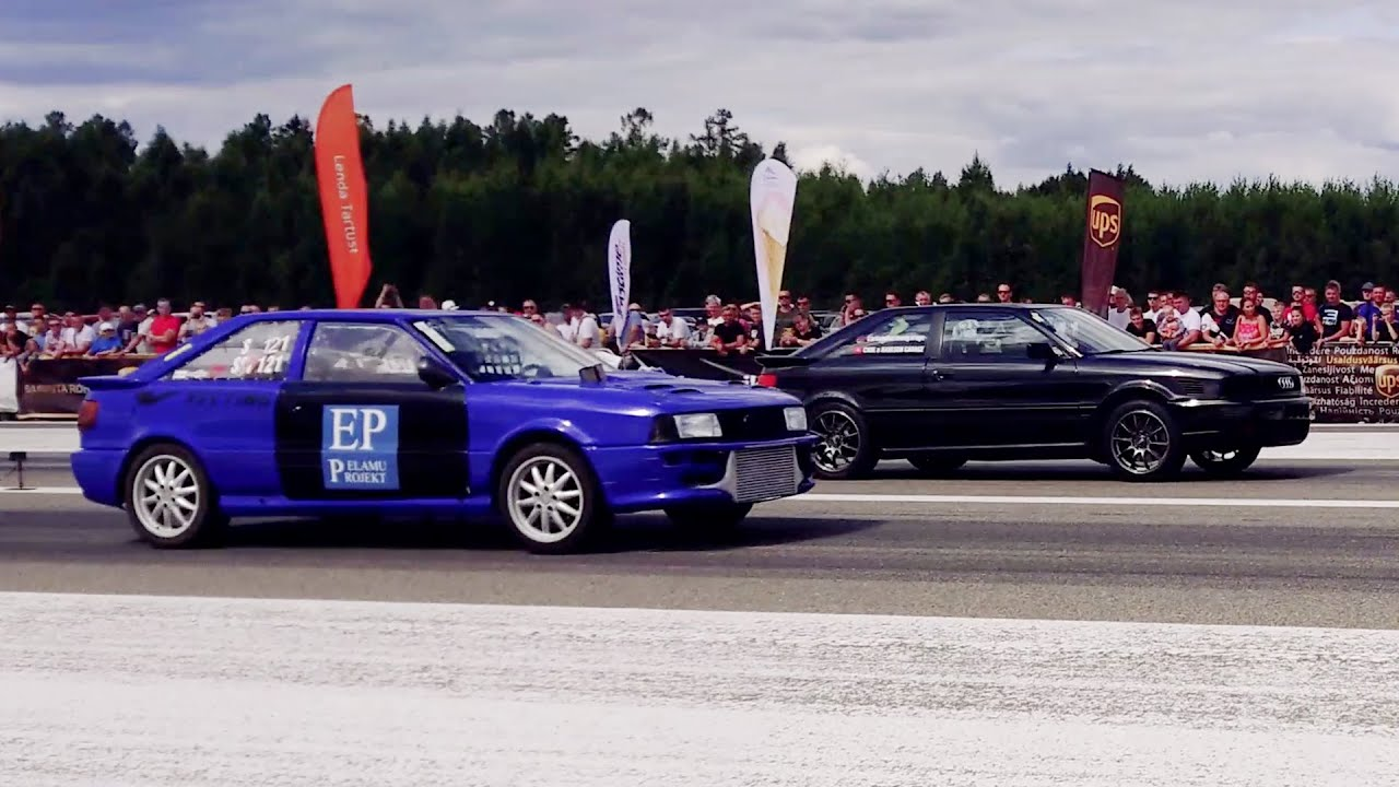 Audi S2 Coupe 2.2TQ PT6062 vs Audi Coupe 2.2TQ Pulsar GTX3584RS 1/4 mile drag race