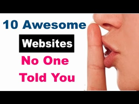 Download 10 Awesome websites No one Told You About
