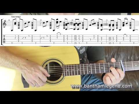 How To Play Don't Want To Know By John Martyn - Guitar  TAB Lesson/tutorial
