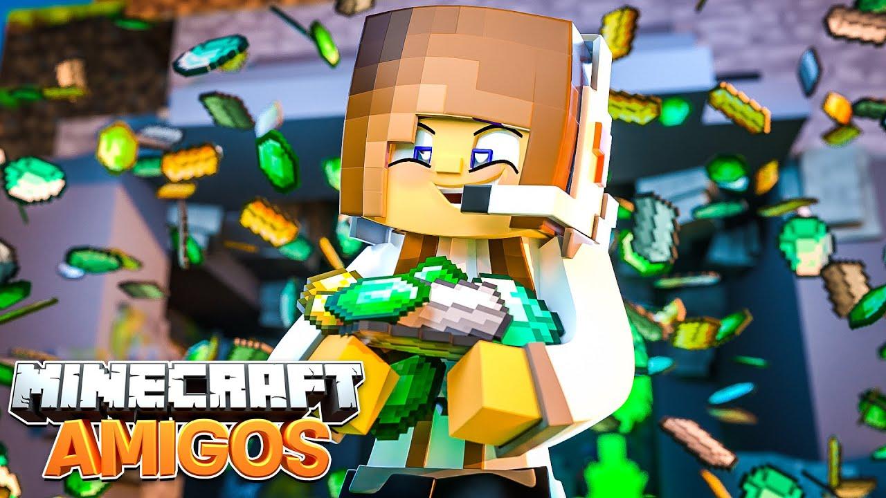 Minecraft AMIGOS - EP 25 | FIQUEI MUITO RICA!