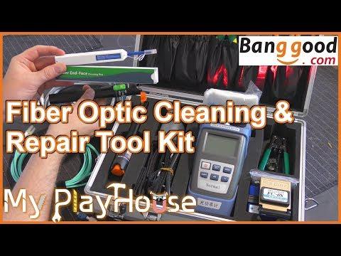 Banggood 25PCS Optic Fiber Cleaning & Repair Tool Kit - 723