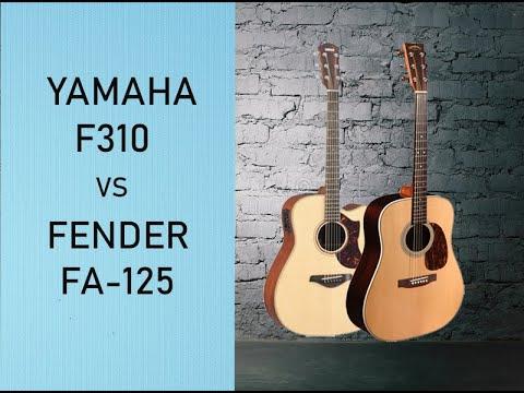 Yamaha F310 Vs Fender Fa 125 сравнение гитар