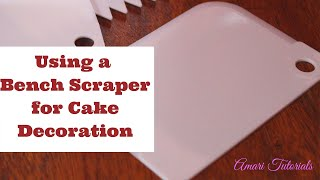 Hi everyone; in this tutorial we're showing you one of the many ways of decorating a cake and getting smooth sides using a plastic bench scraper. This bench ...