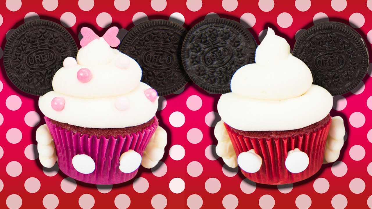 Minnie Amp Mickey Mouse Cupcakes W Charli S Crafty Kitchen