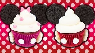 Minnie &amp Mickey Mouse Cupcakes w Charlis Crafty Kitchen