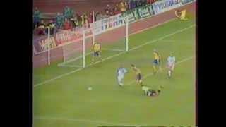 Россия - Украина 1:1 9.10.1999. Обзор ОРТ.
