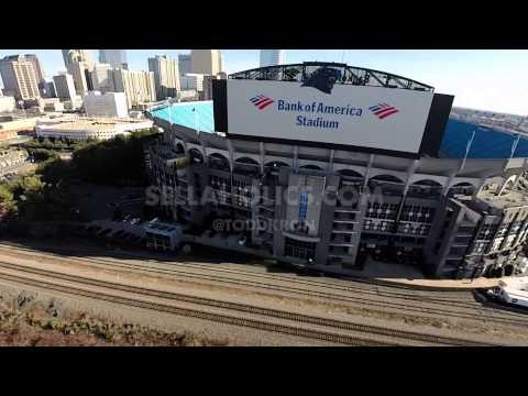 Aerial Video of Bank Of America Stadium in Charlotte