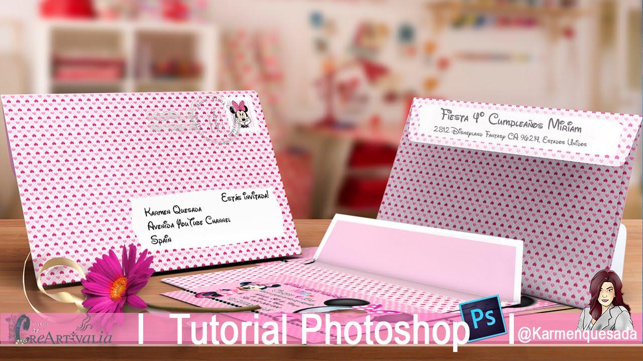 Sobre para tarjeta de invitación Cumple: Tutorial Photoshop, Candy ...