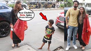 Soft Corner Of Dhvani Bhanushali Shows Care Towards Poor Kid Ask For Food At Mehendi Screening