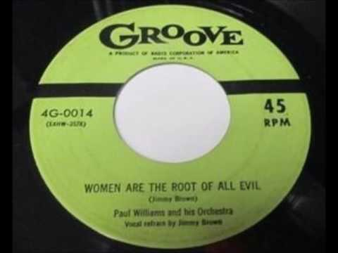 Paul Williams Orch w Jimmy Brown - Women Are the Root Of All Evil 1954 mp3