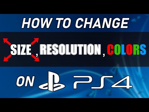 How to change PS4 video settings like screen size, resolution and color range!   SCG 2020