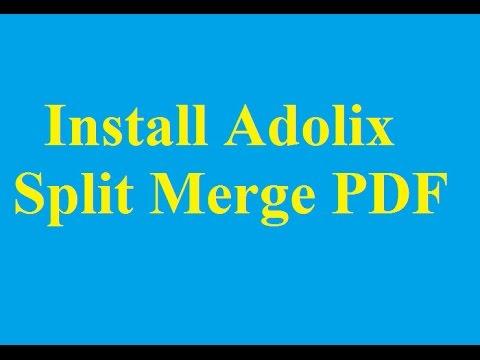 & pdf merge split adolix