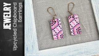 DIY Jewelry - Earrings From Cardboard