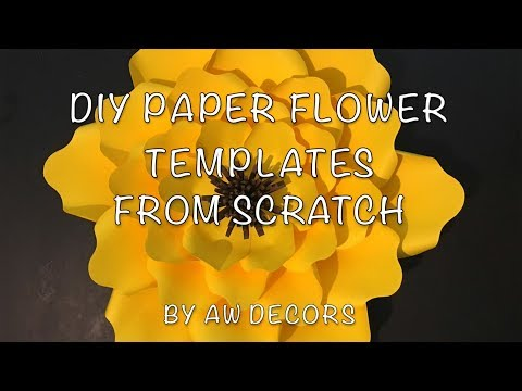 DIY Paper Flower Template Tutorial | No Machine Needed | AW Decors