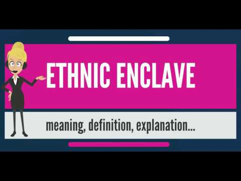 What is ETHNIC ENCLAVE? What does ETHNIC ENCLAVE mean? ETHNIC ENCLAVE meaning & explanation