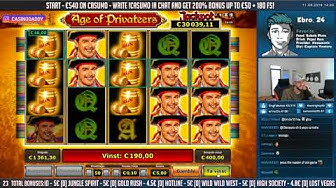 HUGE WIN!! Age of Privateers Big Win - Casino Games - Slots