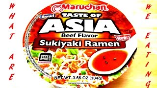 Sukiyaki Ramen Noodle Bowl - WHAT ARE WE EATING?? WHY?? - The Wolfe Pit