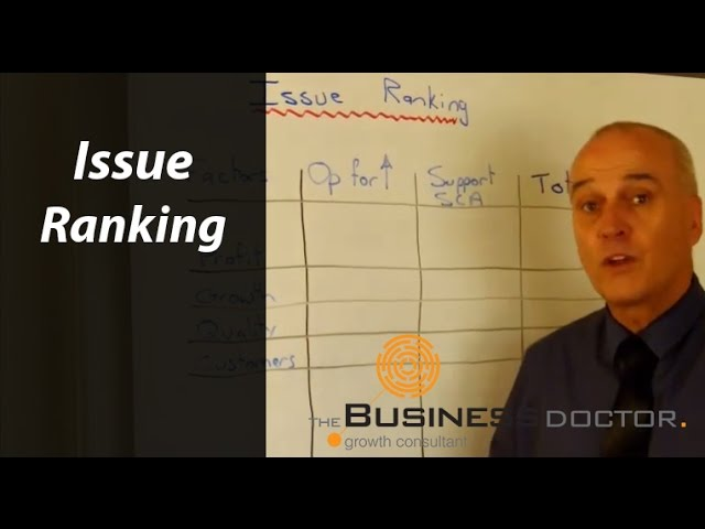 Issue Ranking - The Business Doctor